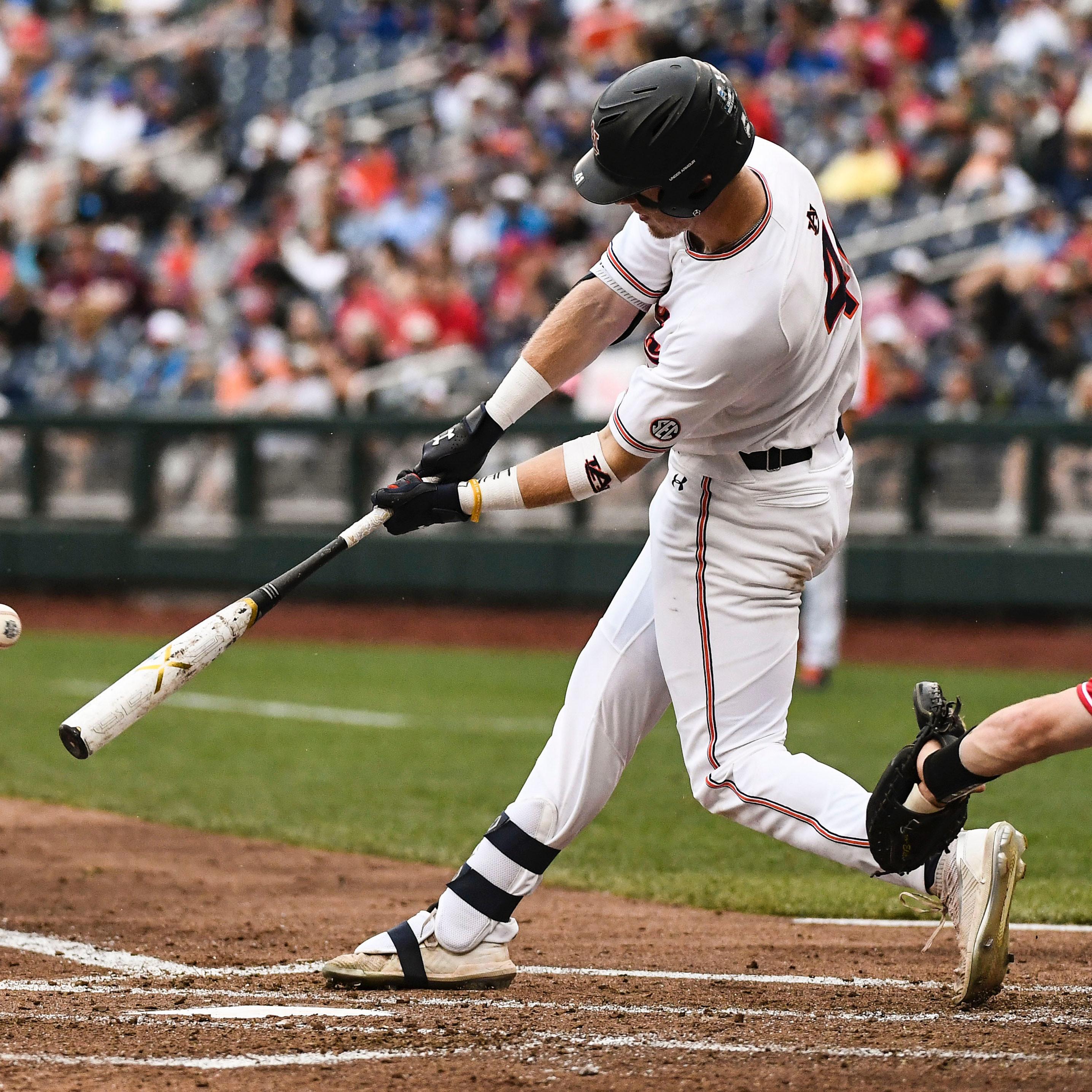 Steven Williams (41) Baseball vs Louisville on Tuesday, June 18, 2019, in Omaha, NE. Cat Wofford/Auburn Athletics